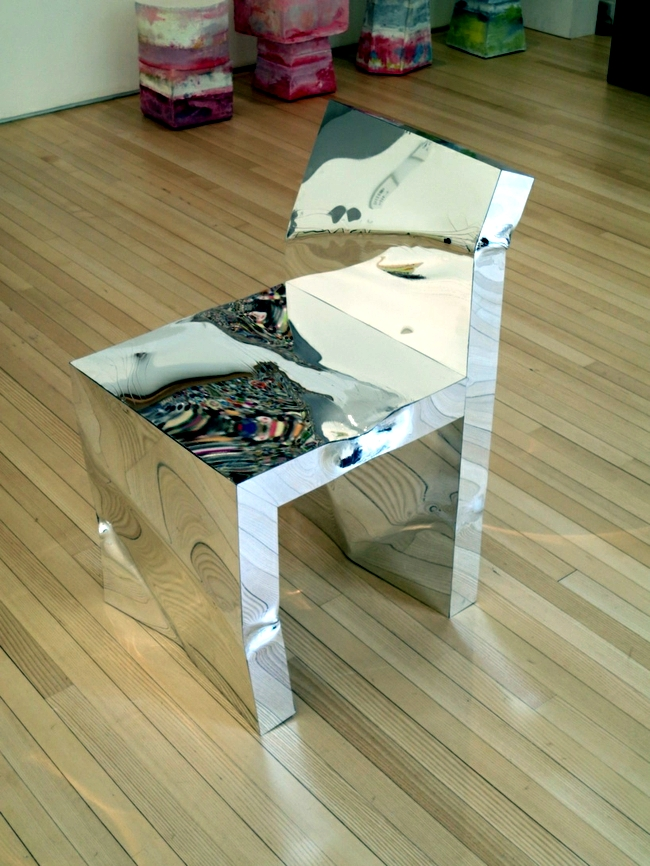 Designer Furniture from acrylic mirror the environment against