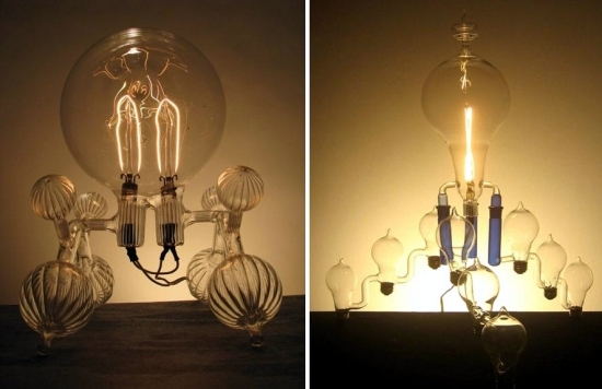 Designer Lamps by Dylan Kehde Roelofs - blown light bulbs