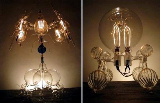Designer Lamps by Dylan Kehde Roelofs - blown light bulbs