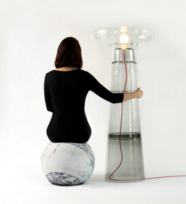 Designer Table Floor Lamp Made Of Glass Lighthouse By Dan