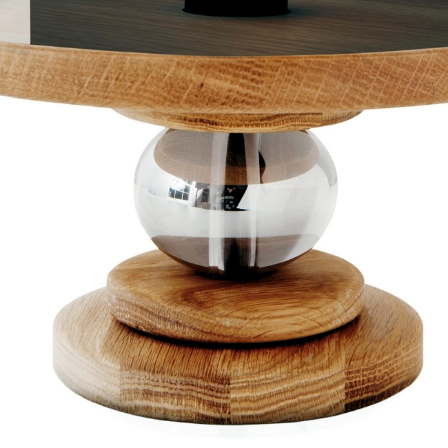 Designer table lamp Eichenolz smoke and glass - Bake me a cake!