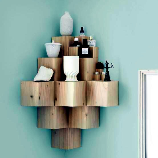 Designs For Your Self Made Corner Shelf Space Saving