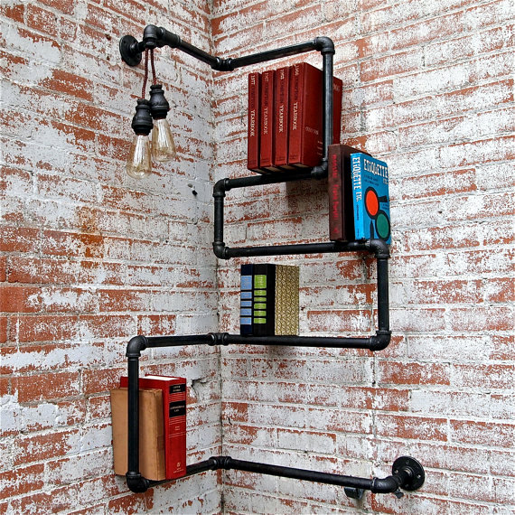 Designs for your self-made corner shelf - space-saving ideas for the home