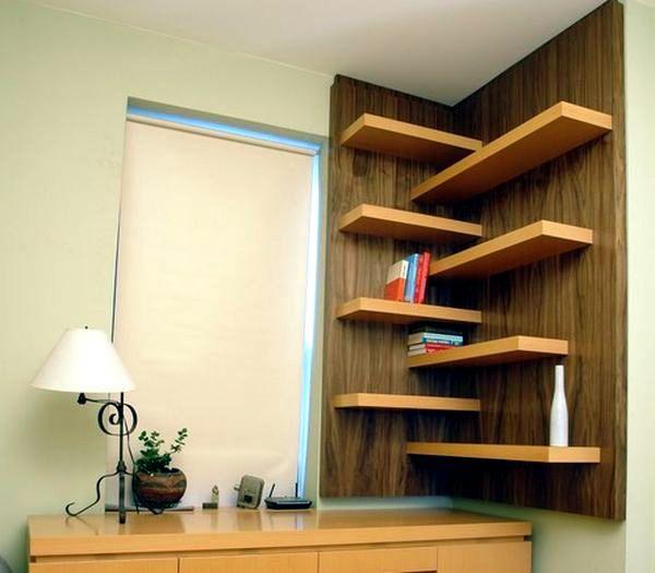 Designs For Your Self-made Corner Shelf