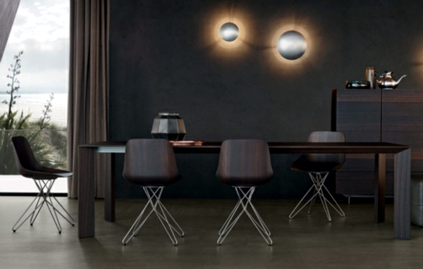 Dining chairs poliform showy furniture design from italy for Sedie italian design