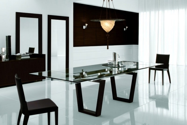 Dining room design ideas - provide exciting black and white contrasts