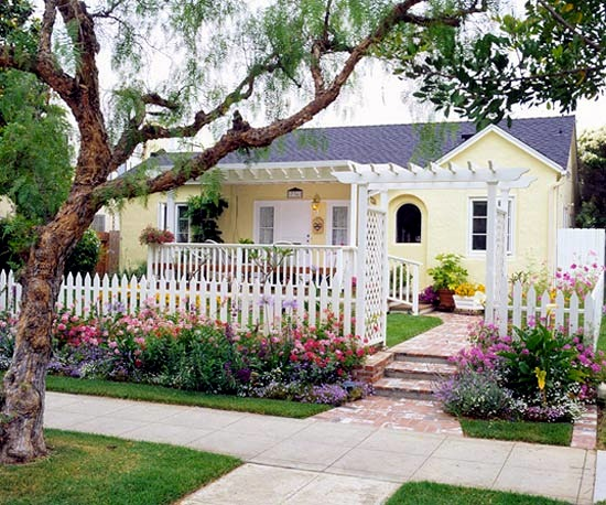 DJ application put landscaping in the front court - 15 practical ideas