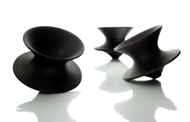 Elegant bench design by Magis as part of Ron Arad exhibition