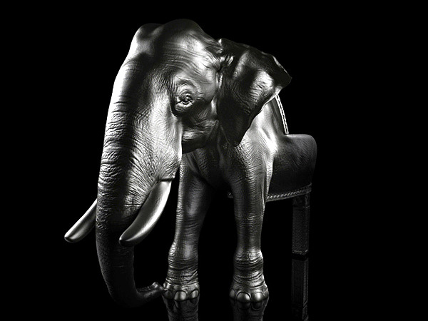 Elephant Chair - extravagant designer chair by Maximo Riera