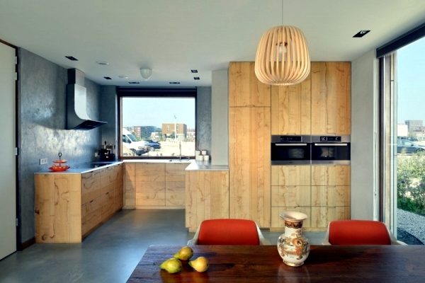Energy efficient modern town house with wooden facades in Amsterdam