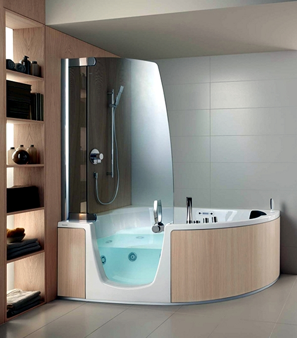 Merveilleux Ergonomic Corner Bath With Shower And Whirlpool Function By Teuco