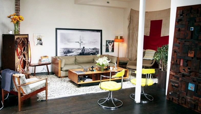 Erin Wasson's loft in Greenwich Village