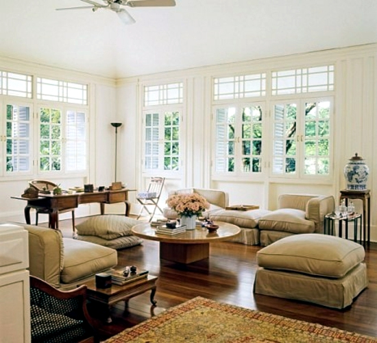 Establishment in the colonial style furniture and for British house interior