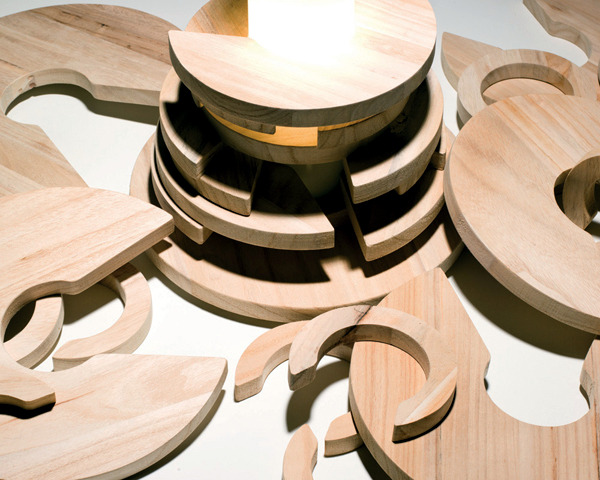 """Exclusive designer lamp like a big puzzle - """"Babele"""" table lamp"""