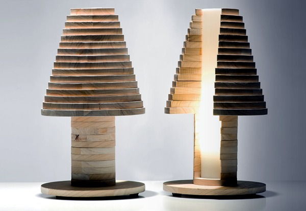 "Exclusive designer lamp like a big puzzle - ""Babele"" table lamp"