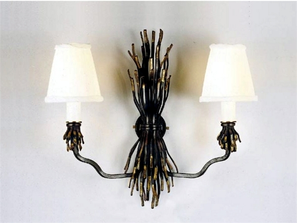 Exclusive handmade designer lamps in wrought iron