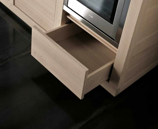 "Exclusive kitchen made of wood or veneer - ""Diamonds"" by Giancarlo Vengi"