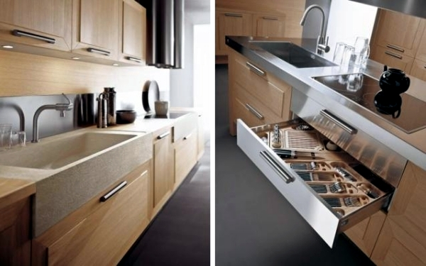 Exclusive Kitchen Made Of Wood Or Veneer Diamonds By Giancarlo Vengi