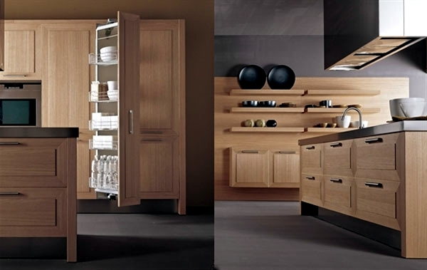 Exclusive kitchen made of wood or veneer – \