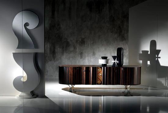 Extraordinary designer home furnishings, wooden Carpanelli