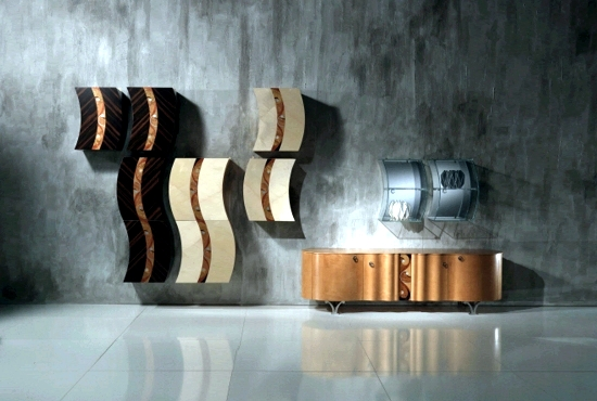 Extraordinary designer home furnishings, wooden Carpanelli