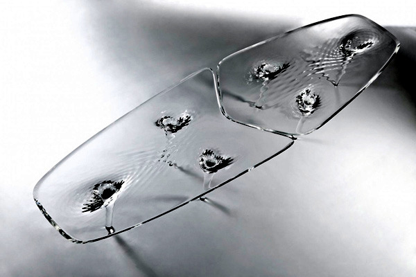 Extraordinary Table Design from Zaha Hadid - Furniture in ice optics