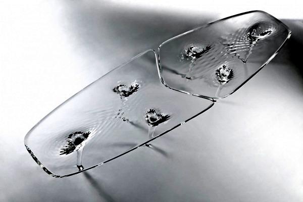 Extraordinary Table Design from Zaha Hadid - Furniture in ice optics