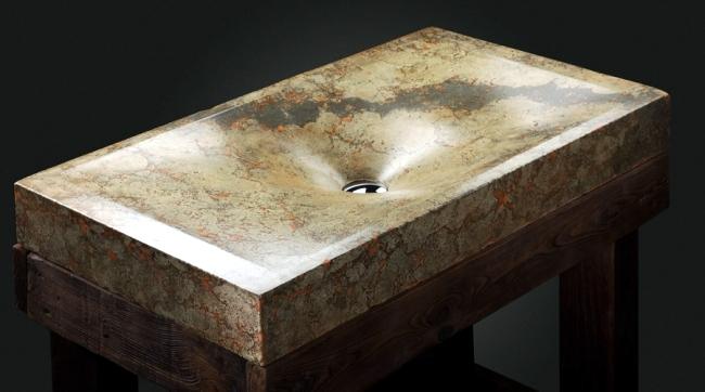 Fancy handmade concrete basin of Pietra Danzare