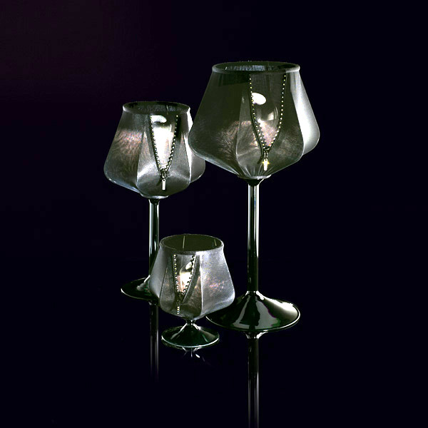 Female flirtatious glass table lamps with Swarovski crystals from Italamp