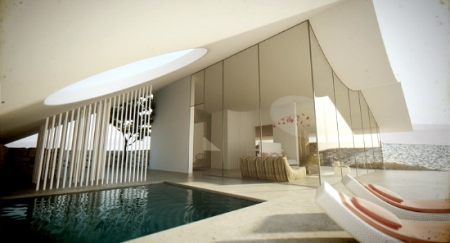 First-class architectural visualization - Modern villa in the desert