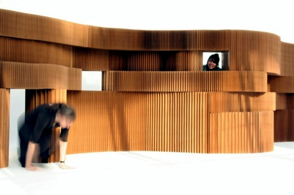 Flexible room divider made of paper the modern partition of Molo