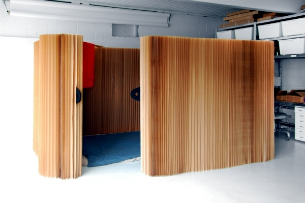 Flexible Room Divider Made Of Paper The Modern Partition
