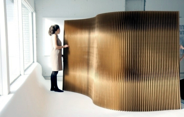 Flexible room divider made of paper - the modern partition of Molo