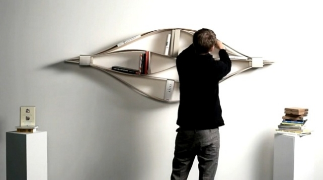 flexible wall shelf design of hafriko is designed in various shapes - Simple Shapes Wall Design