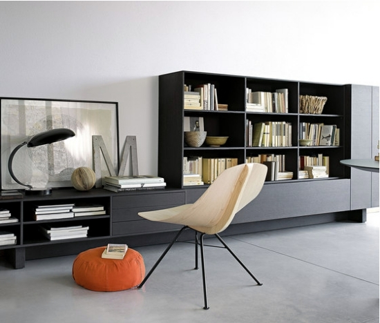 Flexible wall shelf systems LEMA bring diversity into Intereieur
