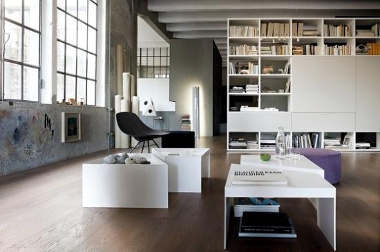 Flexible wall shelf systems LEMA bring diversity into Intereieur