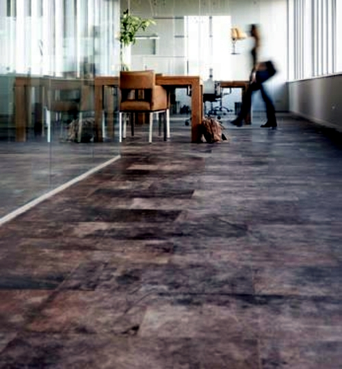 Flooring Made Of Leather Stylish