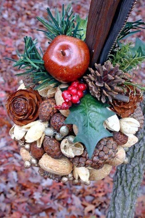 Fragrant Autumn decoration ideas - make decorative potpourri balls themselves