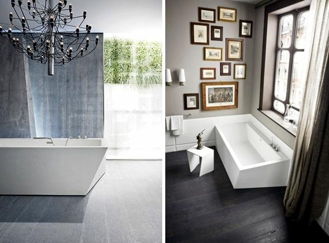 Freestanding bathtub gives the bathroom refined look