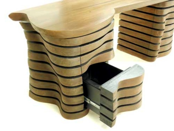 Furniture design - handmade desk with attractive shape