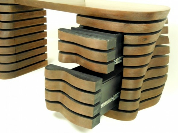 Furniture design - handmade desk with attractive shape