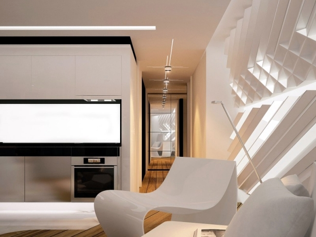 Futuristic designer apartment of Bozhinovski Design