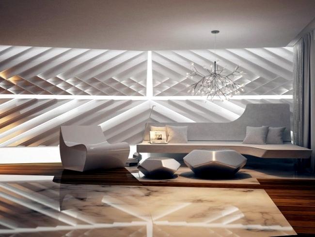 Futuristic designer apartment of Bozhinovski Design