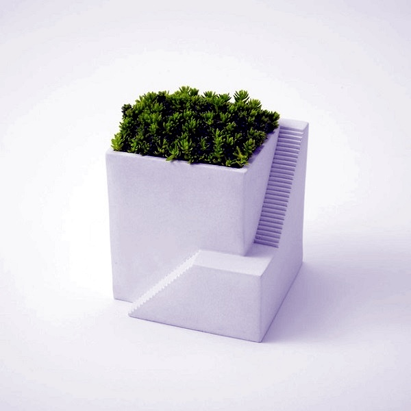 Futuristic flower pots for the perfect Zen Garden
