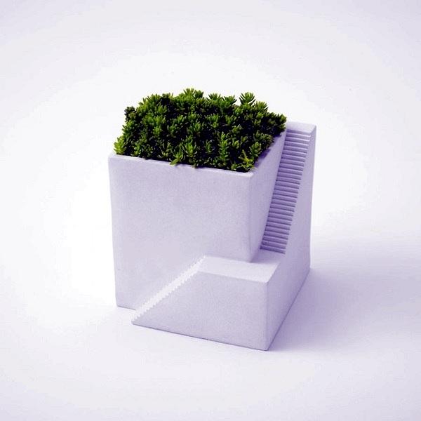 Futuristic flower pots for the perfect Zen Garden