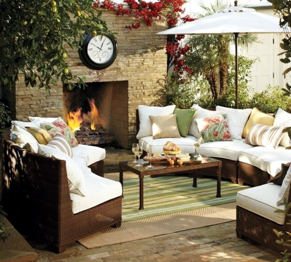 Garden furniture made of wicker - 12 beautiful ideas for outdoor spaces