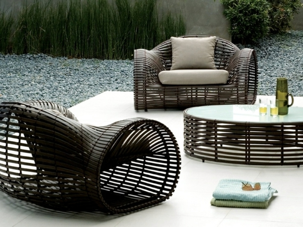 Garden rattan furniture offer relaxation in the summer days