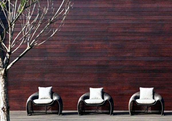 Garden rattan furniture offer relaxation in the summer days