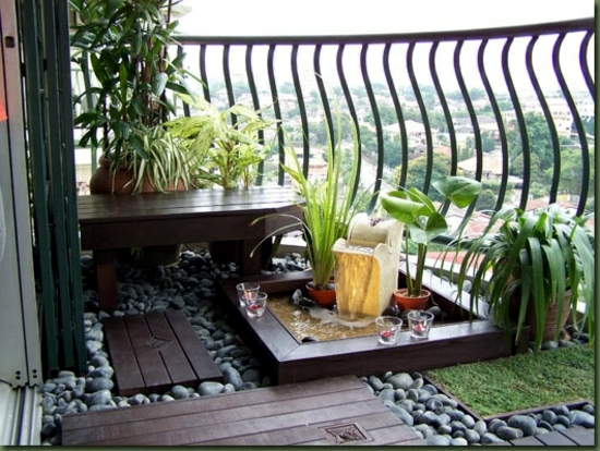 Gardening on the balcony fresh design ideas for your for Balcony zen garden