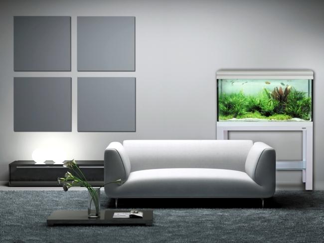 aquarium living room - best fish tank design ideas remodel